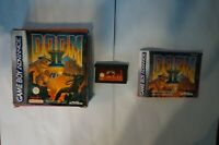 Doom II 2 nintendo Game Boy Advance Gba original genuine box PAL manual clean