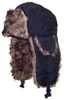 Best Winter Hats Toddler Soft Nylon Russian/Trapper Ear Flap Beanie - Black