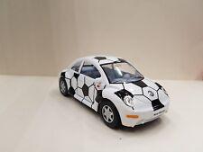 Volkswagen New Beetle Bianco Nero Kinsmart Auto Giocattolo Modello 1/32 Scala
