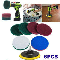 6pcs Tile Grout Power Scrubber Drill Brush Attachment Tub Cleaning Scumbusting