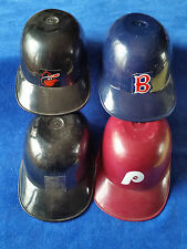 "Lot Of 4 MLB Mini Helmets 5 1/2 "" RedSox,Padres, Oriels, and Phillies"