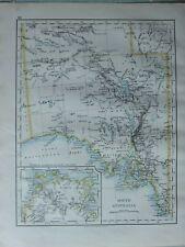 1899 VICTORIAN MAP ~ SOUTH AUSTRALIA
