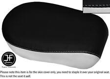 BLACK & WHITE VINYL CUSTOM FOR YAMAHA XVS 650 CLASSIC V STAR REAR SEAT COVER