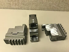 Master Jaws and Attachment Hard Top Jaws for 6 in Lathe Chuck - set of 3
