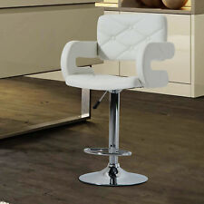 HOMCOM HOMCOM Bar Stool Kitchen Breakfast Barstool Seat Chrome Metal Base Dining