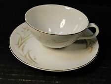 Fine China of Japan Golden Harvest Tea Cup and Saucer Set