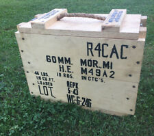 wwii ww2 60mm mortar shell m49a2 10rnd wood crate new made