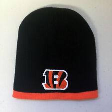 Cincinnati Bengals Short Beanie Skull Cap Hat Embroidered