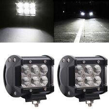 LED 2x18W Lámpara Trabajo Faros antiniebla Luz de trabajo Offroad 12V 24V SUV