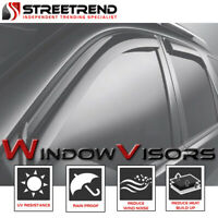 For 2013-2015 Chevy Spark Sun/Rain Guard Smoke Shade Deflector Window Visors 4p