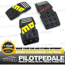 3pcs Black Universal Racing Non-Slip Metal Manual Car Pedals Pad LW13