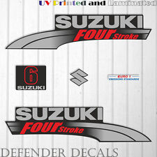 Suzuki  6HP Four Stroke outboard engine decal sticker set kit reproduction 6 HP