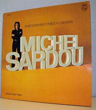"""33T Michel SARDOU Disque LP 12"""" ENREGISTREMENT PUBLIC L'OLYMPIA -PHILIPS 6325005"""