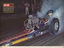 1968 TOP FUEL DRAG RACING ~TOM MCEWEN  ~  ORIGINAL MAGAZINE PHOTO / PICTURE