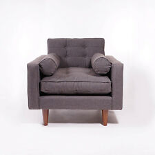 New Luca Armchair Harrier Grey Feather Filled Premium Quality With Roll Cushions