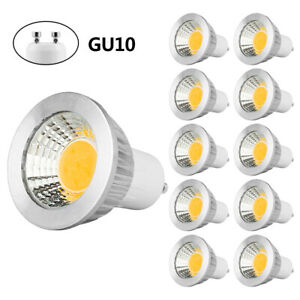 60W Halogen Bulbs Equivalent 6-Pack 600lm Non-dimmable ZJYX GU10 LED Bulbs 6W 6000K Daylight White 120 Degree Beam Angle AC 86-265V