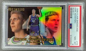 1998-99 FLAIR SHOWCASE DIRK NOWITZKI ROOKIE 0311/1500 ROW 1 #16 PSA 8 RC [MJ]