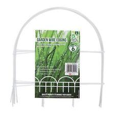 SET OF 6 WHITE WIRE GARDEN PATH EDGING Flower/Lawn/Driveway Decorative Border