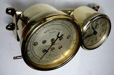 1909-12 Model T Ford Stewart Brass Speedometer With Stewart Clock Combination