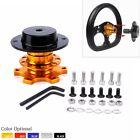 Car Steering Wheel Quick Release Snap Off Hub Adapter Steering Wheel Hub Gold
