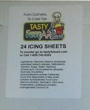 "Frosting sheets, Sugar sheets, Icing sheets - 24 pack - 8.5 X 11"""