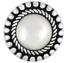 Ginger Snap Jewelry White Pearl Switchback Sn31-42 Buy 4 Get 5Th $6.95 Snap Free