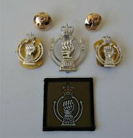 British Army Royal Armoured Corps Anodised Cap/Collar Badges/Buttons & TRF