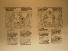 Planche gravure Moyen age Pierre le Rouge danse macabre des hommes Avocat curé