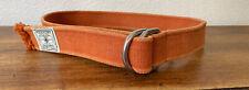 Polo Ralph Lauren Men's Orange Canvas Sportsman Belt Sz Small Vintage