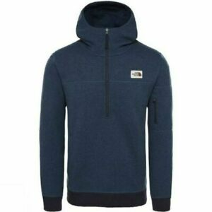 The North Face Mens Gordon Lyons 1/4 Zip Pullover Hoodie Shady Blue Size XL