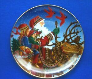 """Princess House  Porcelain Collectors Christmas Plate 2002 Wondrous Night  8-1/4"""""""