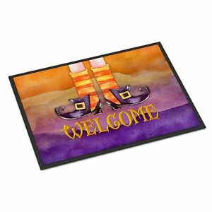 """""""Caroline's Treasures BB7459MAT Halloween Welcome Witches Feet Indoor or Outd..."""
