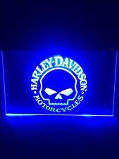 Harley Davidson Skull Custom Led Neon Light Sign Game Room , Bar , garage Sign