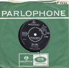 HOLLIES     YES I WILL  / NOBODY     UK PARLOPHONE  60s POP