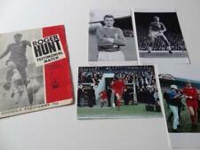 More details for liverpool fc legend roger hunt 1972 testimonial programme & photographs set
