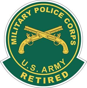 U.S. Army Military Police Corps Retired Decal / Sticker
