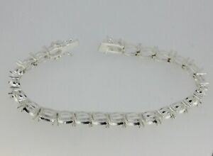 Sterling Silver 7 inch Tennis Bracelet Semi Mount Setting Oval OV 8x6mm