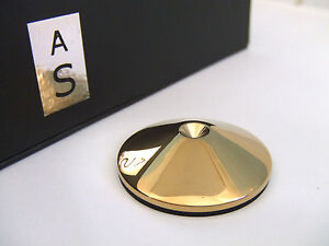 Set of 4 AudioSerenity Polished Brass Hi-Fi Speaker, Stand or Rack Spike Pads