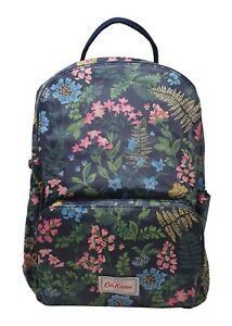 Cath Kidston Twilight Garden Large Pocket Backpack Rucksack Navy Oilcloth NEW