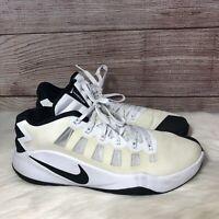 Nike Zoom Hyperdunk Low Basketball Shoes Size 12 Men's White & Black 844363-100