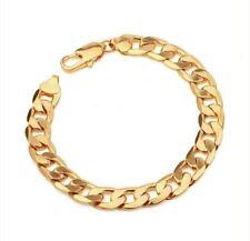 mens 18K Gold GF FIGARO rings curb link chain bracelet UNISEX FREE GIFTBAG AU