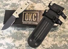 NEW Ontario RAT-3 RAT 3 8666 Combo Edge Fixed Blade Knife & Nylon Sheath USA!!