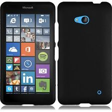 For Nokia Lumia 640(Cricket Only) Rubberized Snap On Plastic - Black