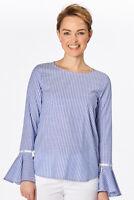 van Laack - Lotta-PB Bluse Damen blau-weiß elegant Neu: 159 €