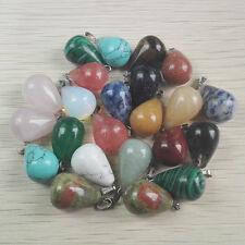 Wholesale Lot 10pcs MIX Natural Stone tears Gemstone Necklace Pendant