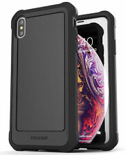 iPhone XS Max Protective Case Cover, Rugged Full Body Cover Falcon Black Encased