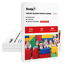 "400 Sheets Koala 5x7"" Premium Glossy Inkjet Printer Photo Paper 61lb Epson Canon"
