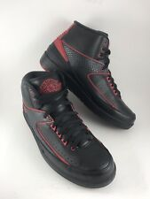 DS AIR JORDAN 2 II RETRO 834274-001 ALTERNATE 87 Mens10 BLACK RED Deadstock