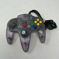 Official Nintendo 64 NUS-005 N64 Controller - ATOMIC PURPLE - FOR PARTS / REPAIR