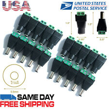 20Pcs DC Power Male Female Jack 2.1 x 5.5mm Plug Adapter Connector for CCTV LED
